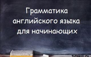 Грамматика английского языка для начинающих