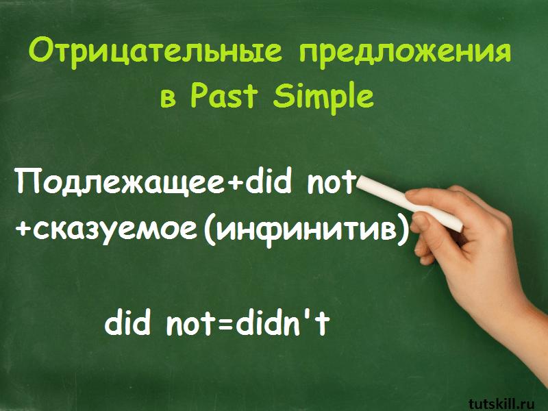 отрицательные предложения в past simple фото