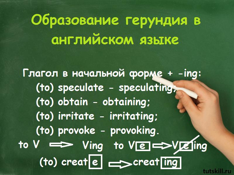 Образование герундия в английском языке фото