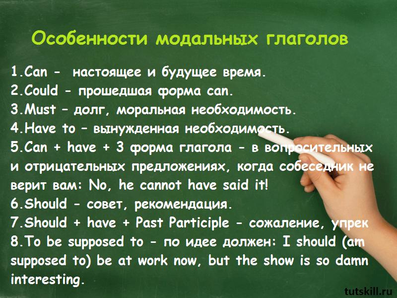 Особенности модальных глаголов фото