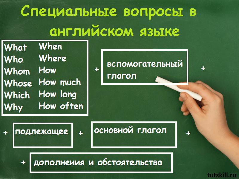 Специальные вопросы в английском языке фото