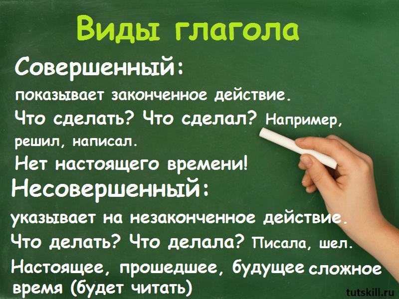 Виды глаголов фото