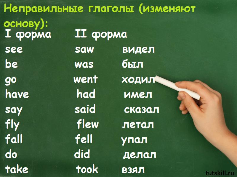 неправильные глаголы изменяют форму