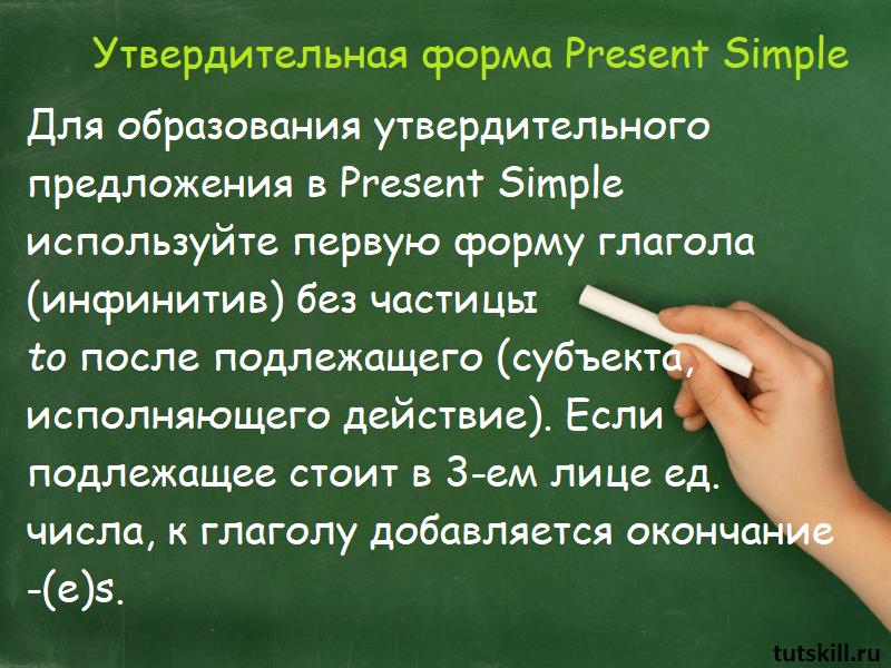 Утвердительная форма Present Simple