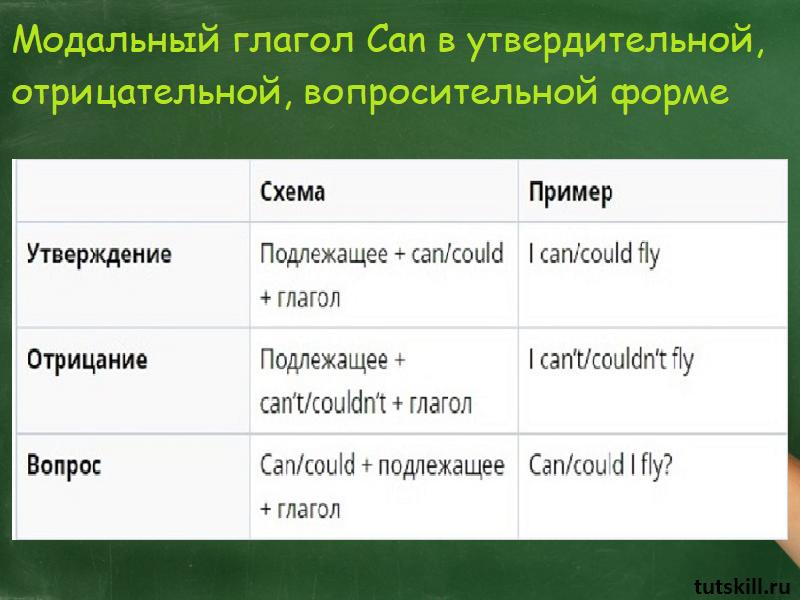 Модальный глагол can