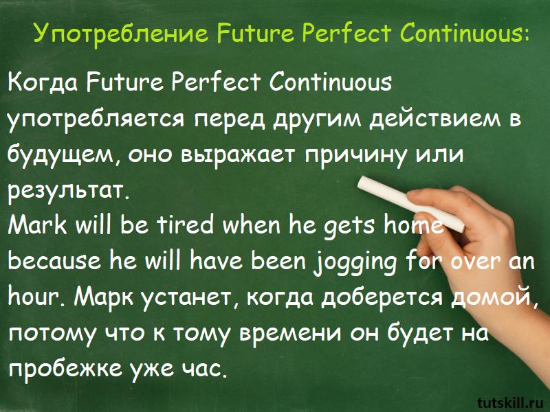 Употребление Future Perfect Continuous